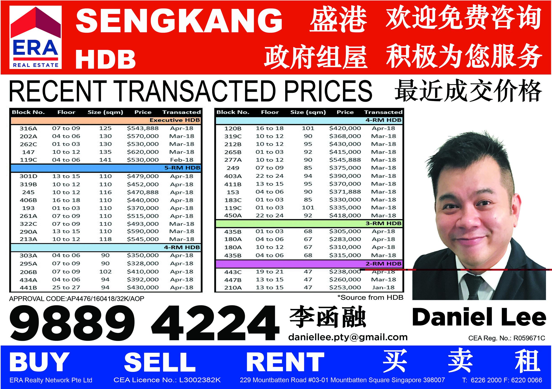 Flyers printing and distribution At SengKang