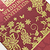 floral laser cut wedding invitations