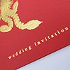 folded invitation card