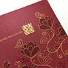 red floral invitation singapore