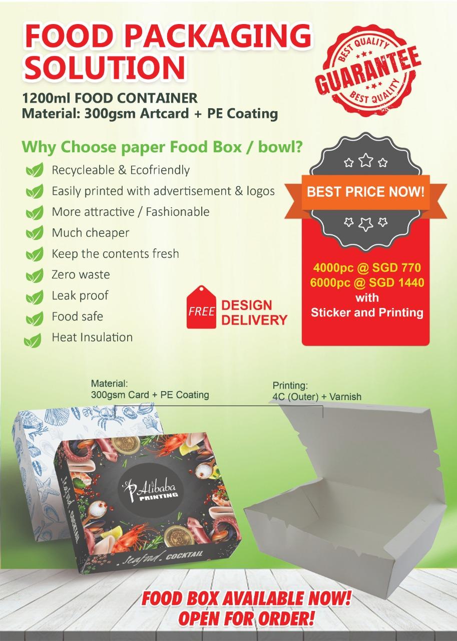 Food Box Printing
